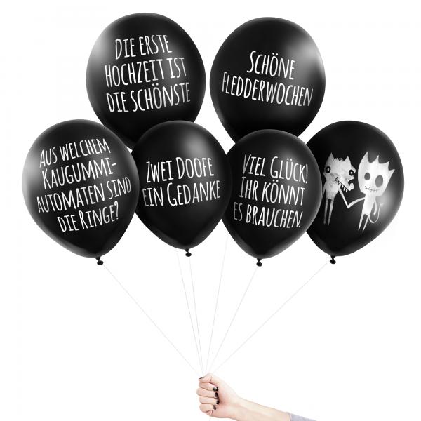 Anti-Ballons - Blaukraut auf Brautkleid