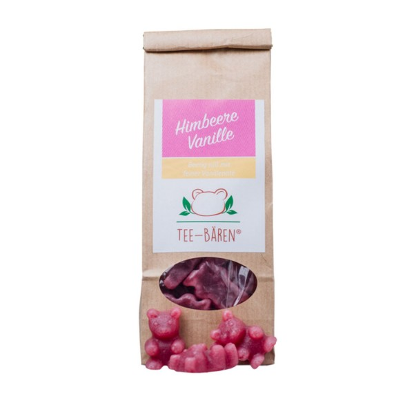Tee-Bären Himbeere Vanille 100g