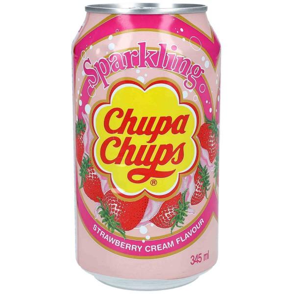 Chupa Chups - Sparkling Erdbeer
