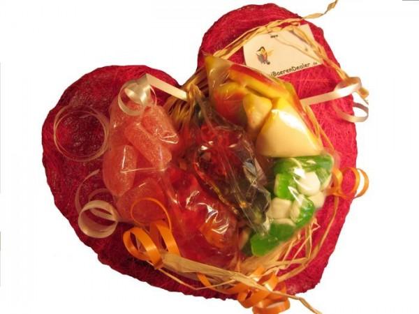 Großer Herzblumenstrauß (ca. 250 g)