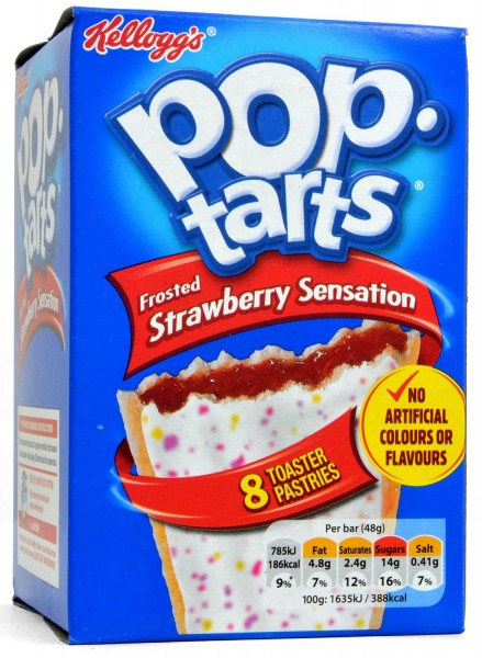 Kellogg's Pop-Tarts Strawberry Sensation Frosted