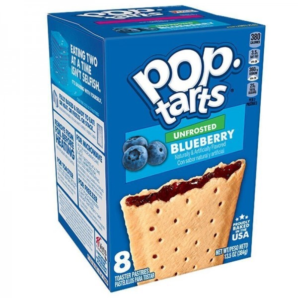 Kellogg's Pop-Tarts Unfrosted Blueberry