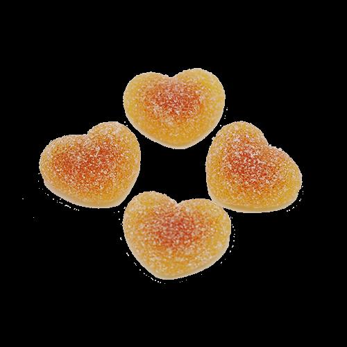 Pfirsichherzen sauer gefüllt
