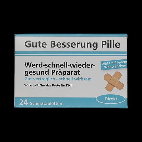 Gute Besserung Pille - Werd-schnell-wieder-gesund Präparat