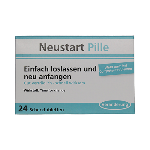 Neustart Pille - Einfach loslassen und neu anfangen