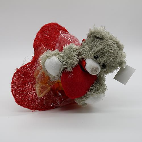 Kleiner Herzblumenstrauß mit Teddy