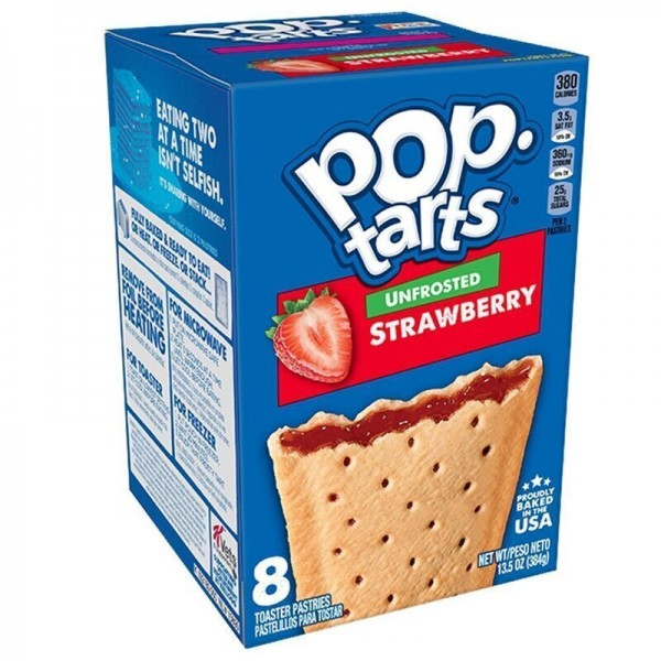 Kellogg's Pop-Tarts Unfrosted Strawberry