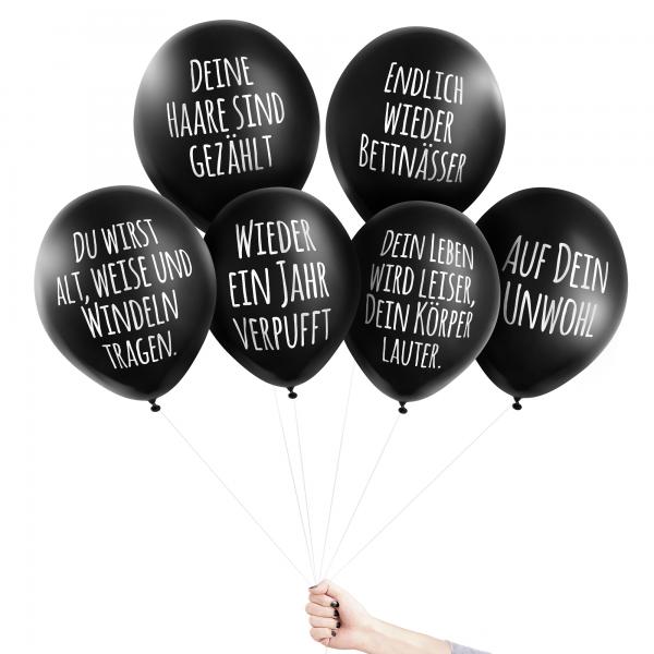Anti-Ballons - Glückwünschchen