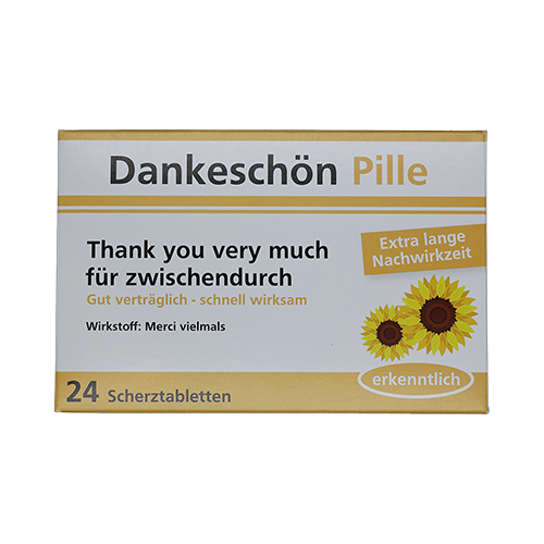 Dankeschön Pille - Thank you very much für zwischendurch