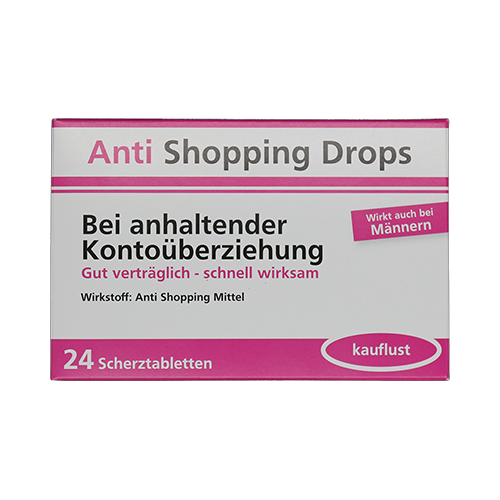 Anti Shopping Drops - Bei anhaltender Kontoüberziehung