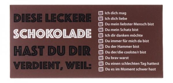 "Besondere Schokolade ""Leckere Schokolade"""